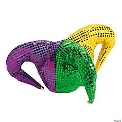 Polyester Mardi Gras Sequin Jester Hat