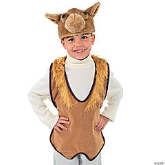 Polyester Nativity Animal Slip-On Camel Vest & Hat