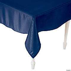 """Polyester Navy Rectangle Tablecloth - 54"""" x 126"""""""