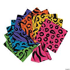 Polyester Neon Animal Print Bandanas