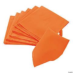 Polyester Orange Bandanas