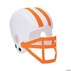 Polyester Orange Team Spirit Football Helmet