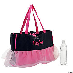 Polyester Personalized Ballerina Tote Bag