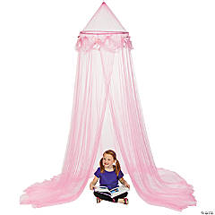 Polyester Pink Princess Canopy Tent