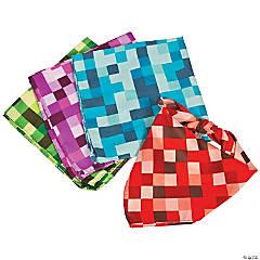 Polyester Pixel Checkered Bandanas