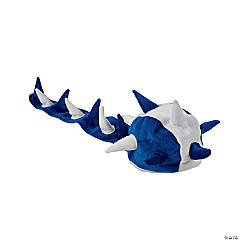 Polyester Plush Blue & White Spike Hat