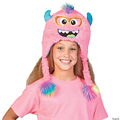 Polyester Plush Pink Monster Hat