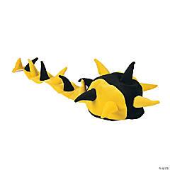 Polyester Plush Yellow & Black Spike Hat