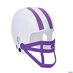 Polyester Purple Team Spirit Football Helmet