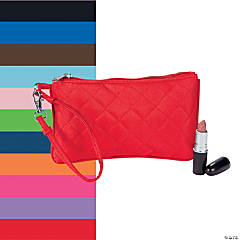Polyester Quilted Wristlet Purse
