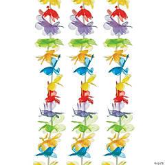 Polyester Rainbow Flower Leis