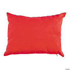 Polyester Red Medium Reading Pillow