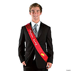 Polyester Red Prom King Sash