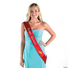 Polyester Red Prom Queen Sash
