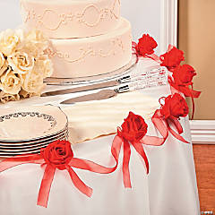 Polyester Red Rose Garland