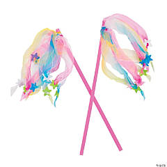 Polyester Ribbon Star Wands