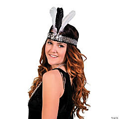 Polyester Roaring '20s Feathered Headpiece