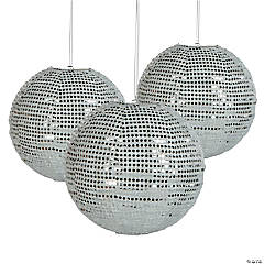 Polyester Sequined Silver Lantern