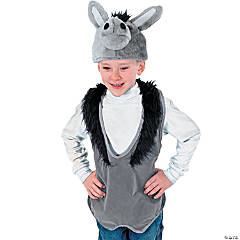 Polyester Slip-On Donkey Vest And Hat
