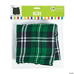 Polyester St. Patrick's Day Plaid Kilt