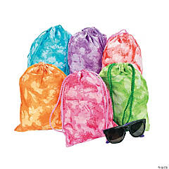 Polyester Tie-Dyed Drawstring Bags
