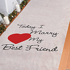 Polyester Today I Marry My Best Friend Aisle Runner