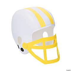 Polyester Yellow Team Spirit Football Helmet