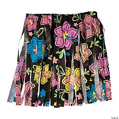Polypropylene Neon Luau Printed Hula Skirts