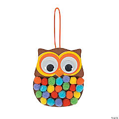 Pom-Pom Owl Ornament Craft Kit