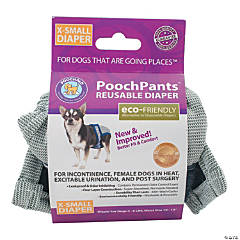 PoochPants Reusable Dog Diaper-X-Small-4 To 7lbs
