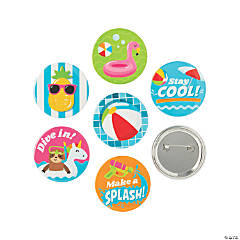 Pool Party Buttons