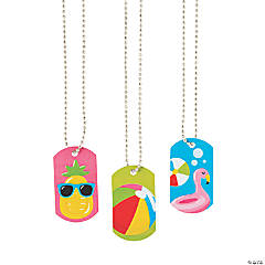 Pool Party Dog Tag Necklaces