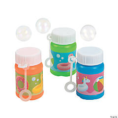 Pool Party Mini Bubble Bottles