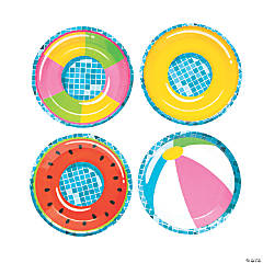 Pool Party Paper Dessert Plates - 8 Ct.