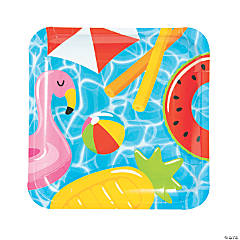 Pool Party Paper Dinner Plates - 8 Ct.