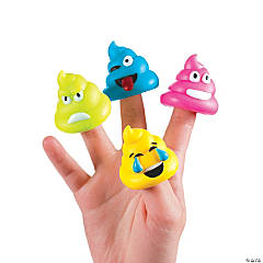 Poop Character Finger Puppets