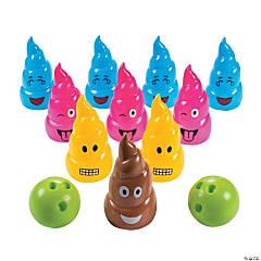Poop Emoji Bowling Set