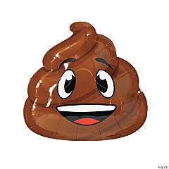 Poop Emoji Paper Dinner Plates - 8 Ct.