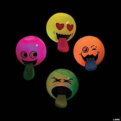 Pop-Out Tongue Light-Up Bouncing Balls