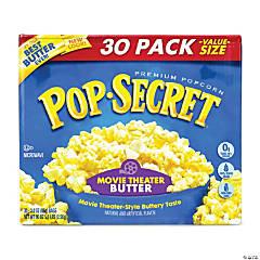 Pop Secret Premium Popcorn Movie Theater Butter, 3 oz, 30 Count