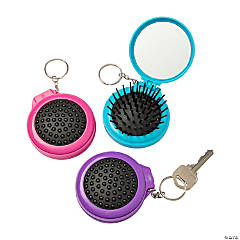 Pop-Up Hair Brush Keychains
