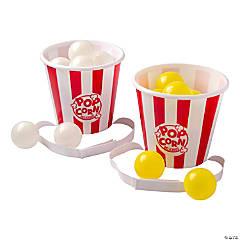 Popcorn Bucket Ball Toss Game