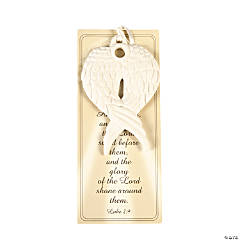 Porcelain Angel Wings Christmas Ornaments