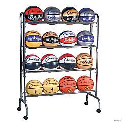 Portable Ball Rack, 4 Tier, Holds 16 Balls