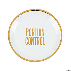 Portion Control Party Paper Plates - 12 Ct.