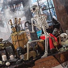 Posable Pirate Skeleton Halloween Decoration