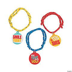 Positive Sayings Rope Bracelets