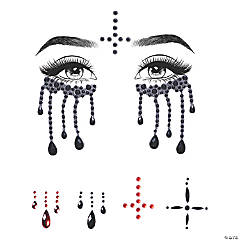 Possessed Jeweled Face Sticker