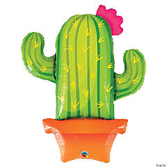 Potted Cactus Mylar Balloon