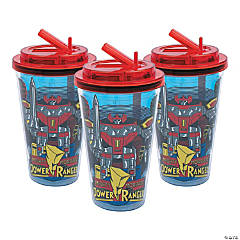 Power Rangers Megazord Tumblers with Flip Straw Lids